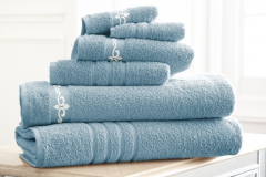 Fleur-de-Lis-Embroidered-Towels-Light-Blue